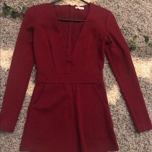 Red Urban Outfitters Romper